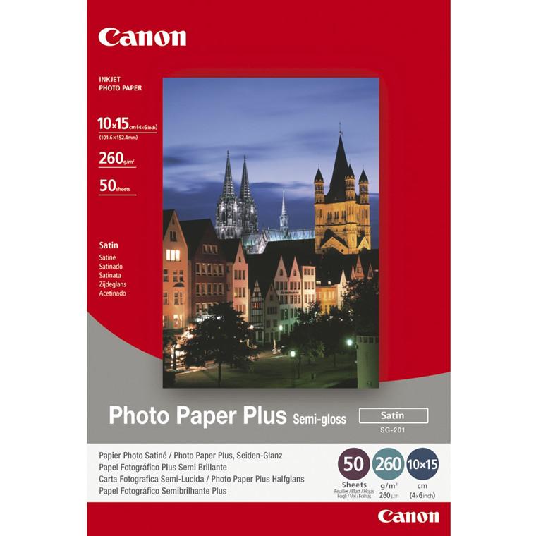 Fotopapir 10x15 cm - Canon 260g SG-201 Plus Semigloss - 50 ark