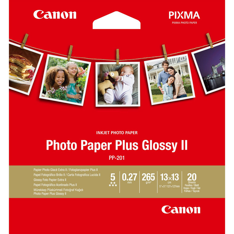 Canon - 13 x 13 PP-201 Fotopapir Plus II 275 gram - 20 ark