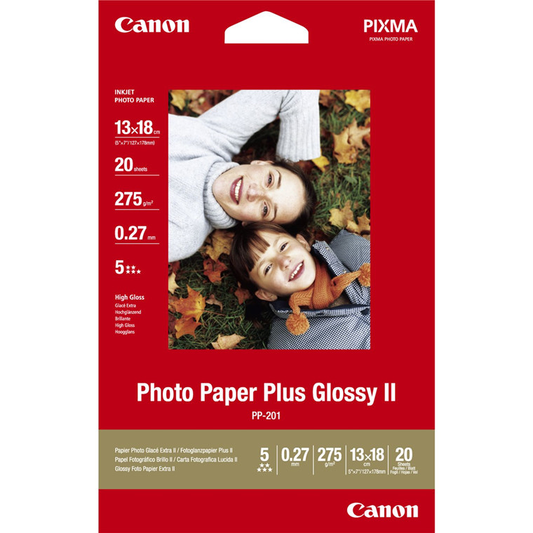 Canon - 13 x 18 cm PP-201 Foto papir Plus II 275 gram - 20 ark
