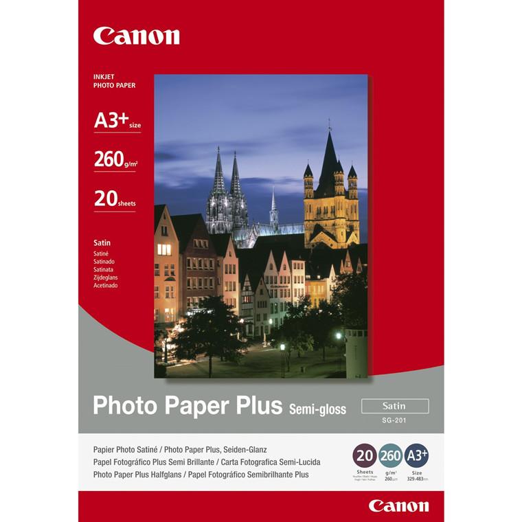 Canon - A3+ 260 gram SG-201 Foto papir Plus Semigloss - 20 ark