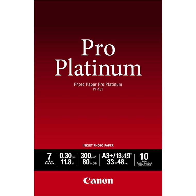 Canon - A3+ 300 gram PT-101 Photo Paper Pro Platinum 10 ark