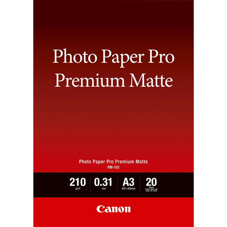 Canon - A3 PM-101 Premium Mat Fotopapir - 20 ark
