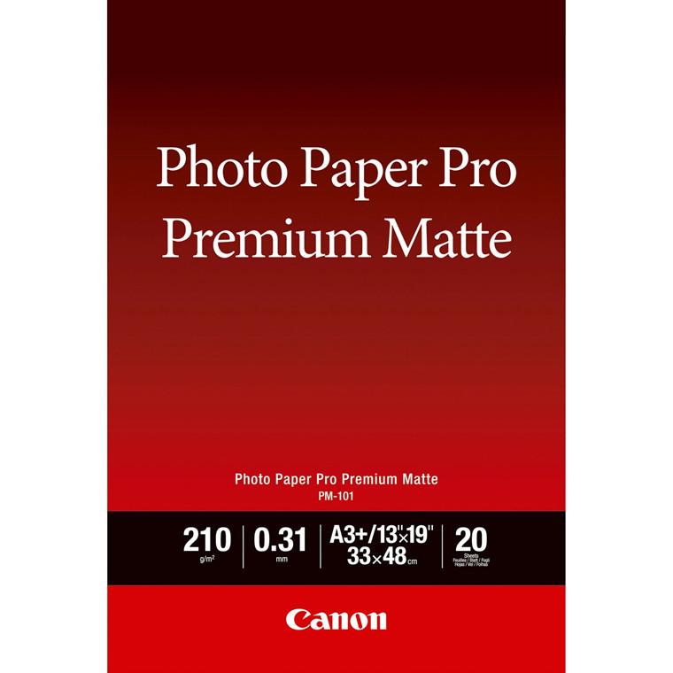 Canon - A3+ PM-101 Premium Matt Fotopapir - 20 ark