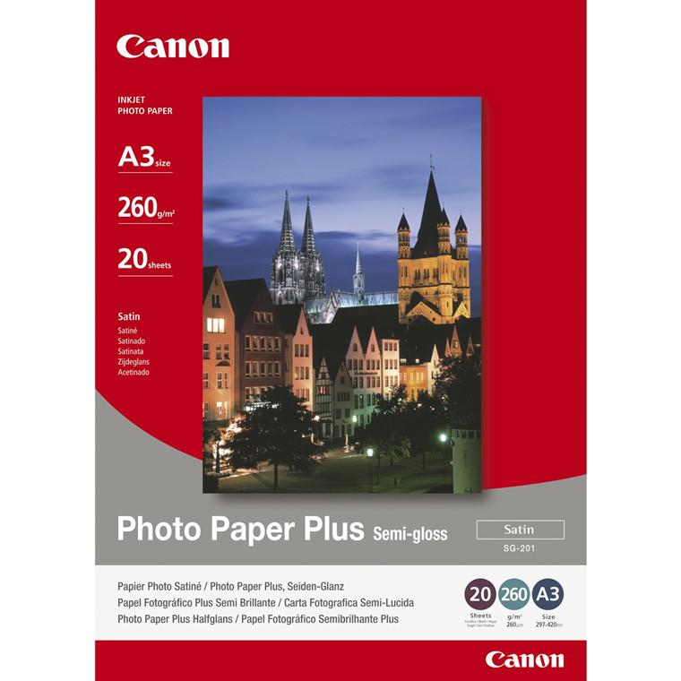 Canon - A3 SG-201 260 gram Foto papir Plus Semigloss - 20 ark