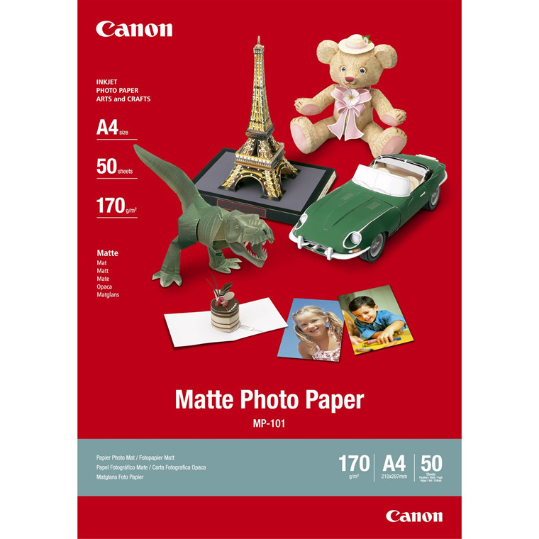 Canon - A4 170 gram MP-101 Mat foto papir - 50 ark