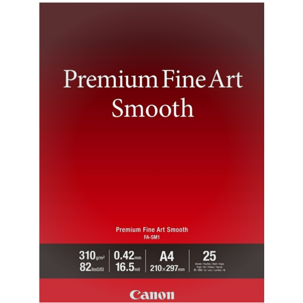 Canon - A4 FA-SM1 FineArt Premium Smooth - 25 ark