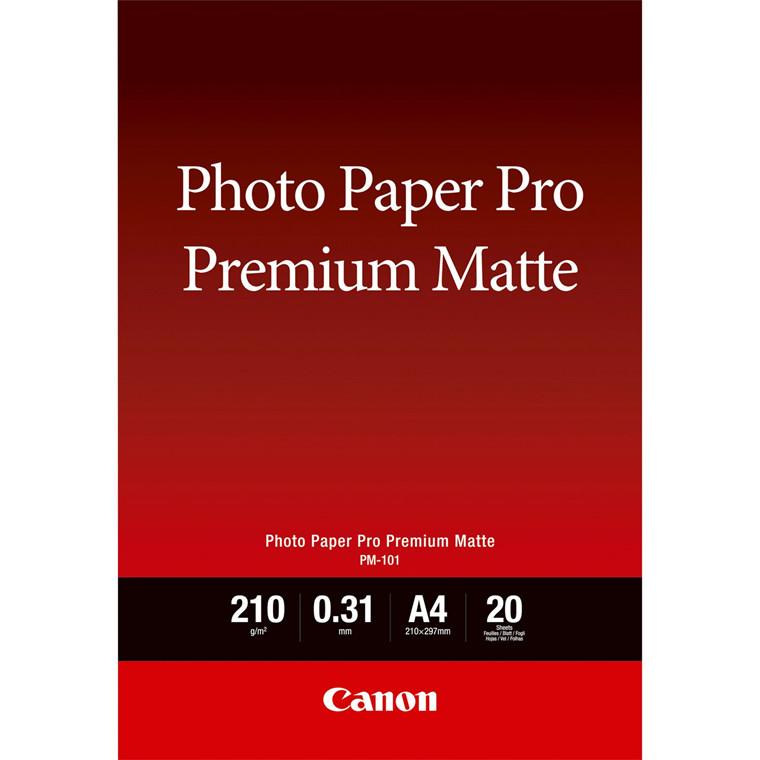 Canon - A4 PM-101 Premium Mat Photo Papir - 20 ark