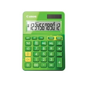 Canon LS-100K-MGR mini pocket calculator green