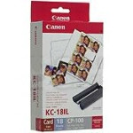 Canon - KC-18IL CP-100 kit mini labels blæk + papir