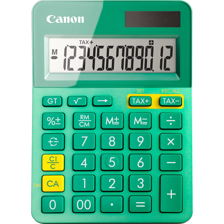 Lommeregner Canon LS-123K MTQ pocket calcutalor - turkis