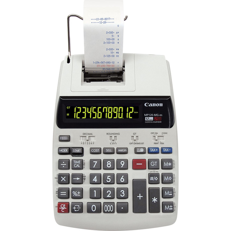 Strimmelregnemaskine Canon MP120-MG-ES II printing calculator
