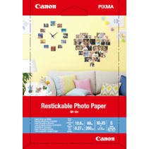 Canon Restickable Photo paper 4x6 5 sheets RP-101