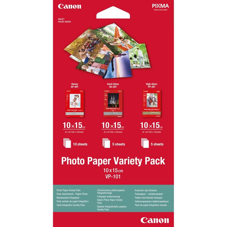 Canon - VP-101 Fotopapir Variety Pack - 10 x 15 cm