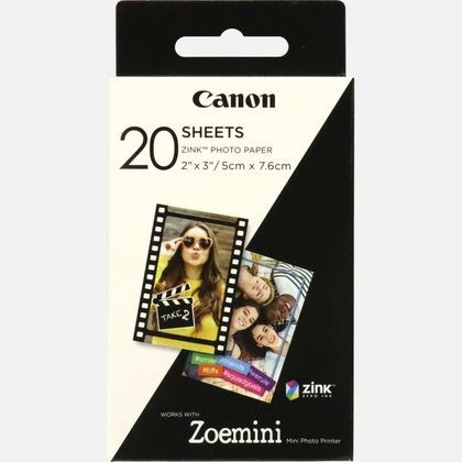 """Canon ZINK 2""""x3"""" PhotoPaper x20 sheets"""