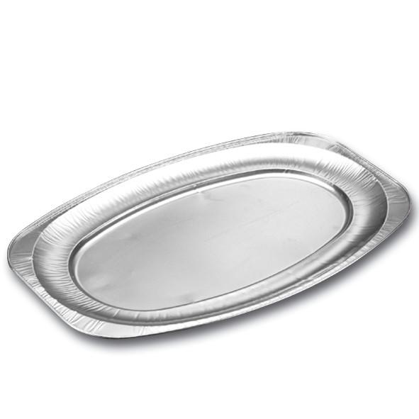 Cateringfad oval foodline glat stor - 55 x 36 x 2,2 cm - 10 stk.