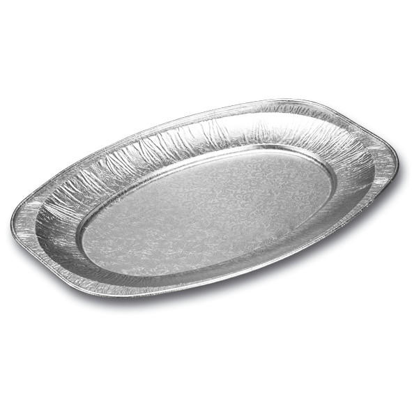 Cateringfad oval lille 35 x 25 x 2,1 cm - 6586 - 10 stk. i pose