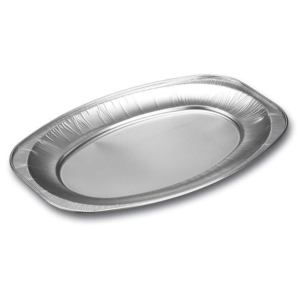 Cateringfad oval lille glat - 35 x 25 x 2,1 cm - 10 stk.