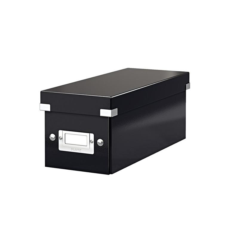 CD-boks Leitz Click & Store sort 143x147x352 mm