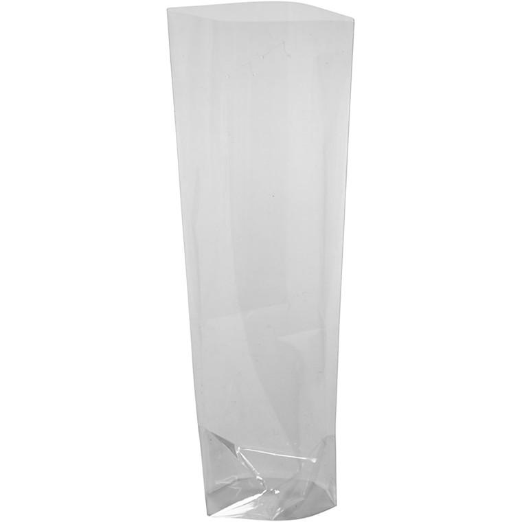 Cellofanpose størrelse 6,5 x 4,5 cm højde 16 cm 25 my - 20 stk.