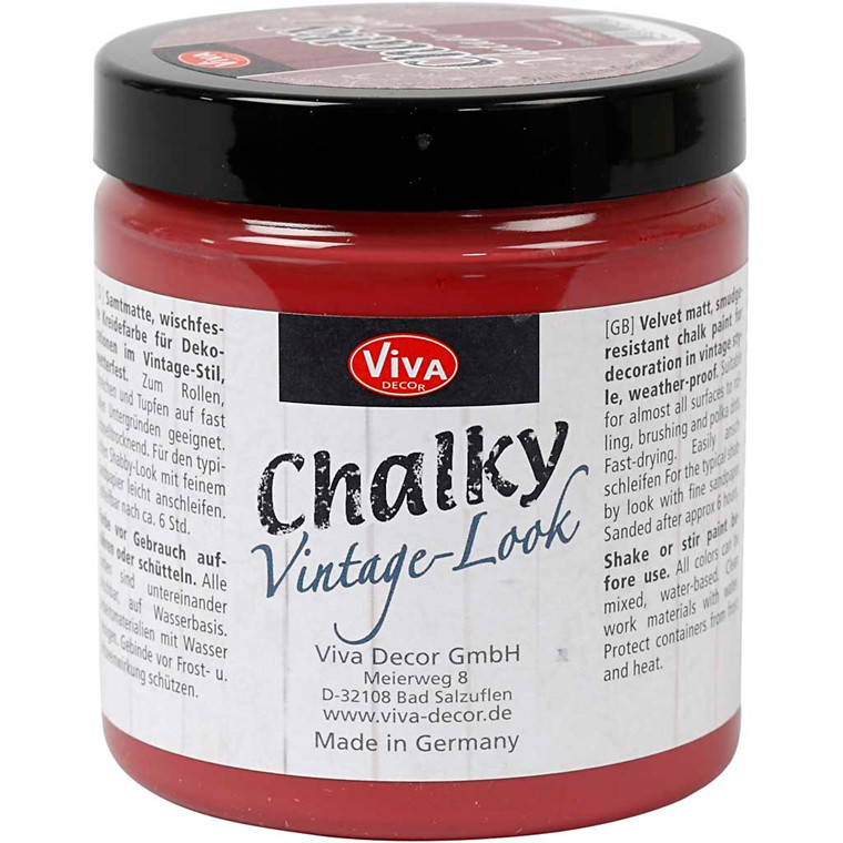 Chalky Vintage Look maling, bordeaux (404), 250ml