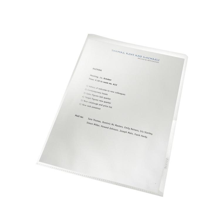 Chartek A4 - Leitz Recycle 130 my med præg - 100 stk i æske