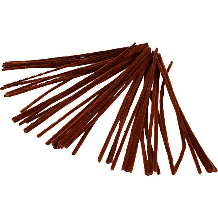 Piberensere tykkelse 6 mm længde 30 cm brun   50 stk.
