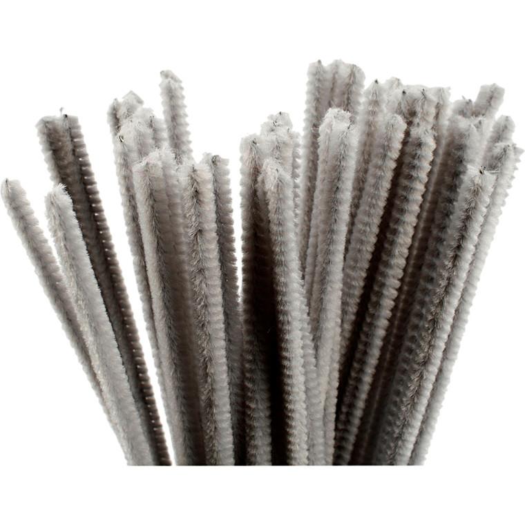Piberensere tykkelse 6 mm længde 30 cm grå   50 stk.