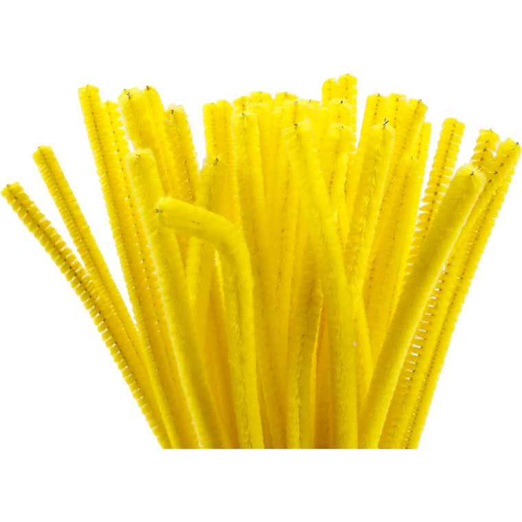 Piberensere tykkelse 6 mm længde 30 cm gul - 50 stk.