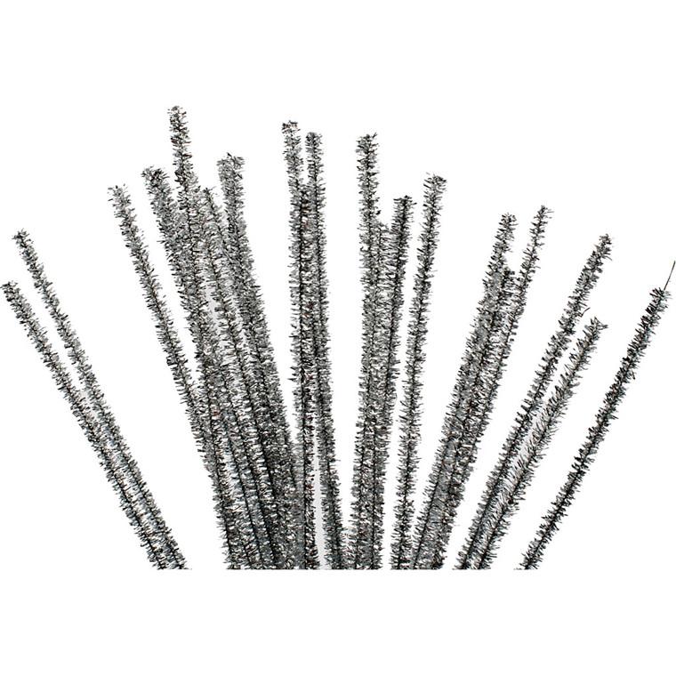Piberensere tykkelse 6 mm længde 30 cm sølv   24 stk.