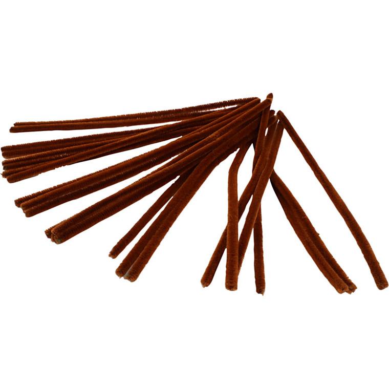 Piberensere tykkelse 9 mm længde 30 cm brun   25 stk.