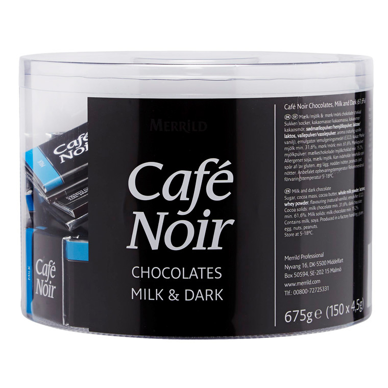Chokolade Café Noir Lys/mørk 2 dåser a 150 stk/pak