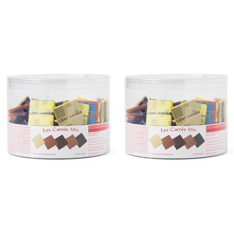 Chokolade Les Carees Mix 2x150stk/pak