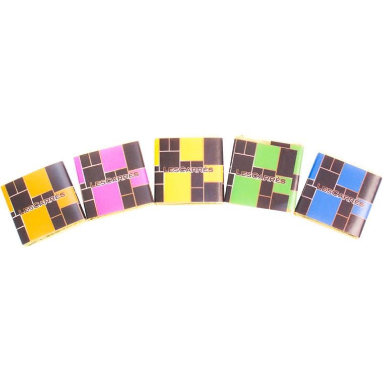 Chokolade, Les Carrés, 5 varianter, 400 stk.,