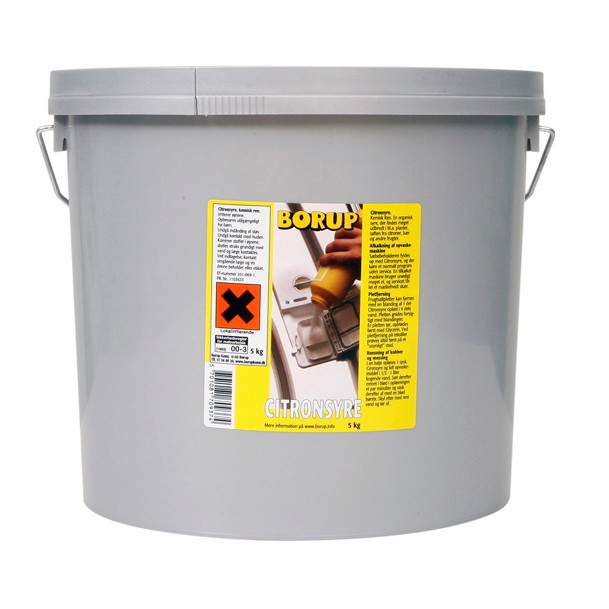 Borup Citronsyre pulverform - 5 kg
