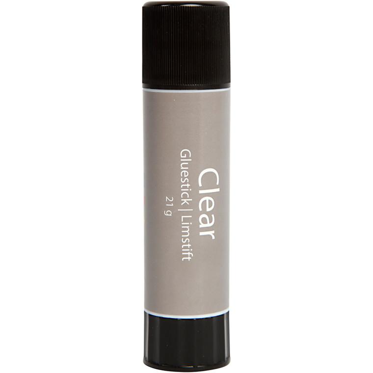 Clear limstift - 21 gram - Rund