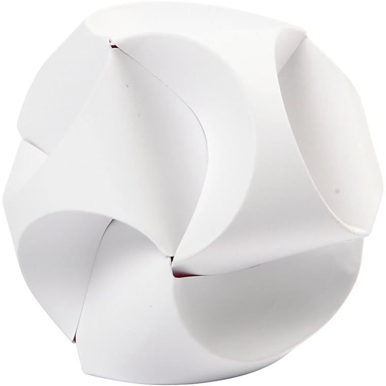 Click ornamenter størrelse 3,5 x 8,8 cm diameter 5 cm hvid - 9 sæt