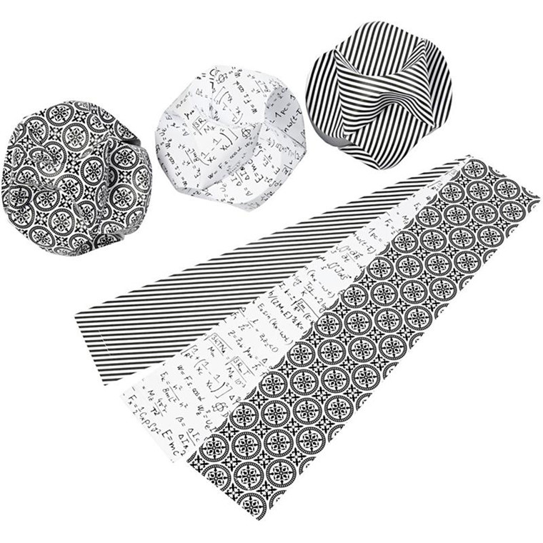 Click ornamenter størrelse 5,5 x 28,4 cm diameter 9 cm Paris - 9 sæt