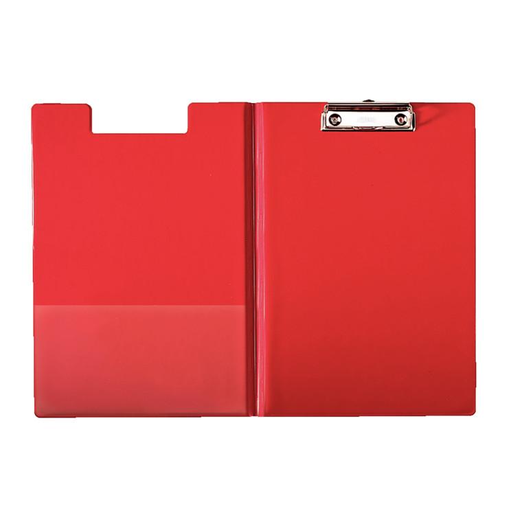 Esselte clip board A4 med forside og inderlomme 56043 - Rød