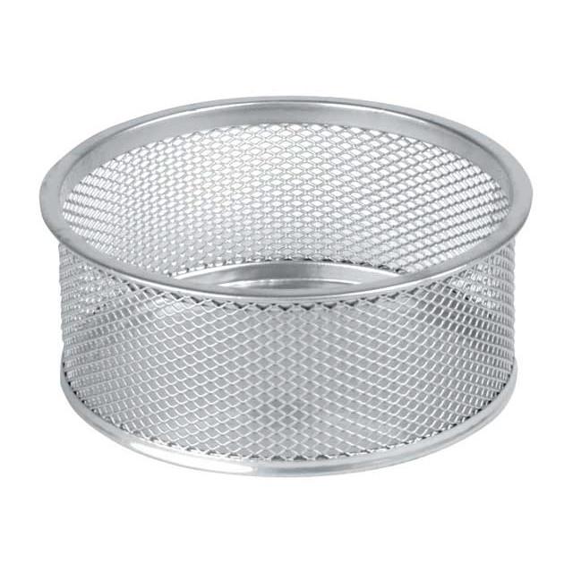 Clipsholder sølv tråd metal - med skridsikker bund