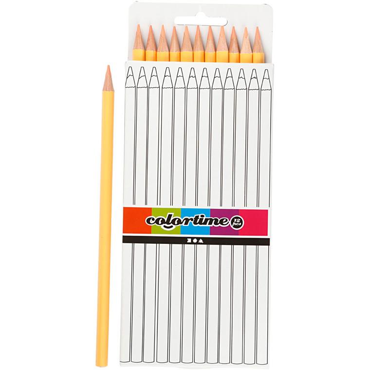 Colortime farveblyanter, mine: 3 mm, L: 17 cm, lys hudfarvet, basic, 12stk.