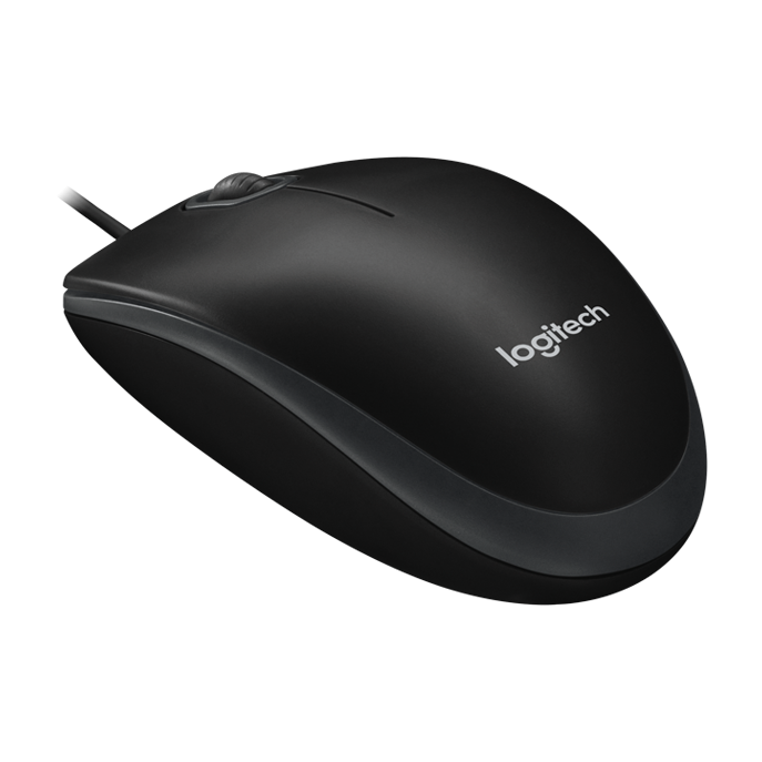 Computermus Logitech B100 Optical Business Mouse, Black (OEM)
