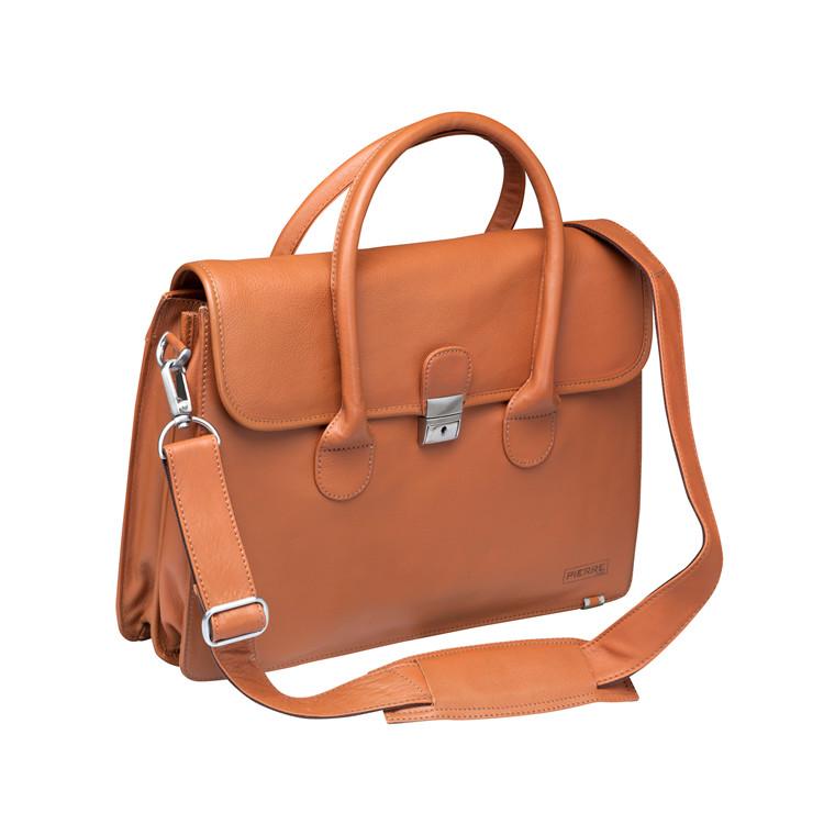 Computertaske New Classic dame læder naturbrun