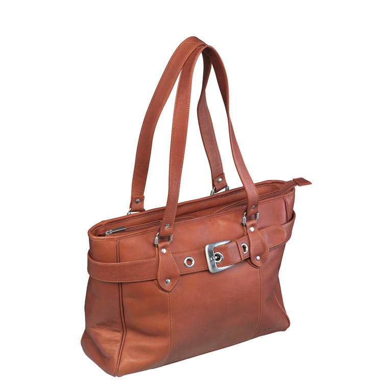 Computertaske New Classic Shopper læder naturbrun