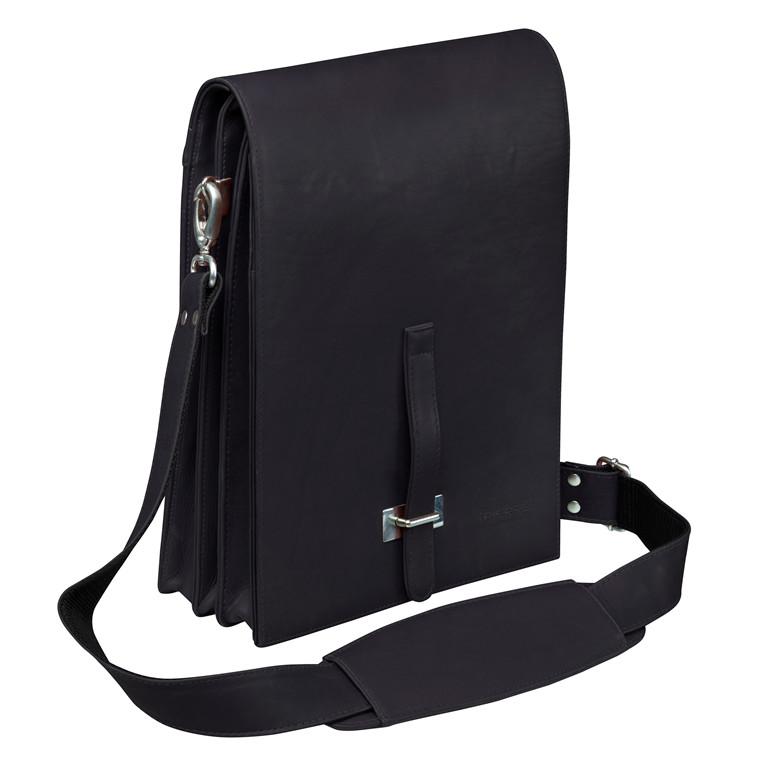 Computertaske New Classic US postel læder sort