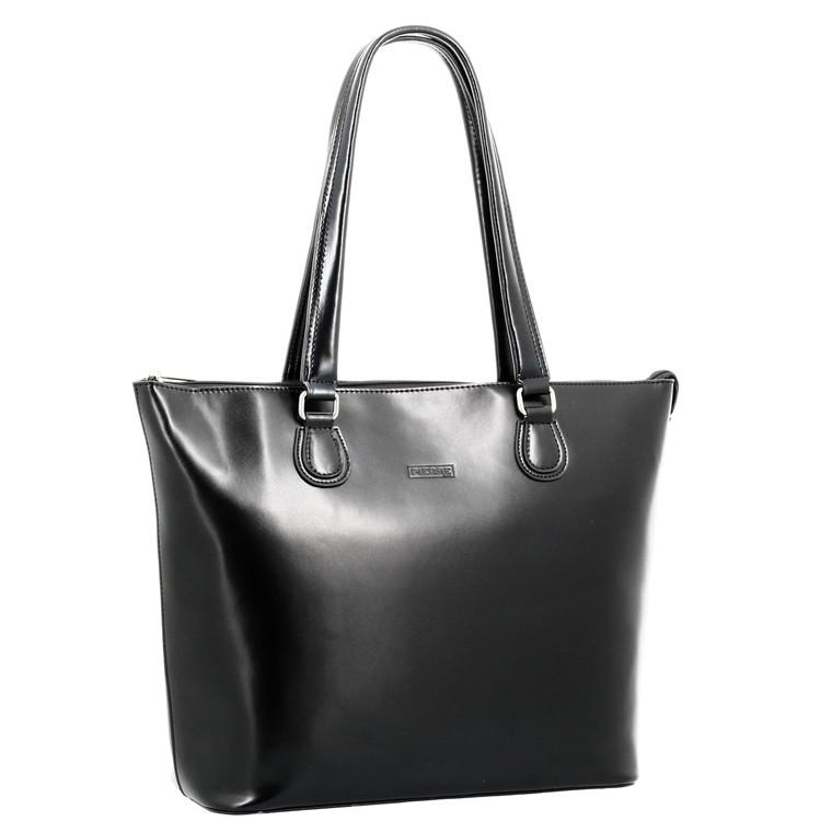"Computertaske Pierre Lady Classic Line 15,4"" sort læder"