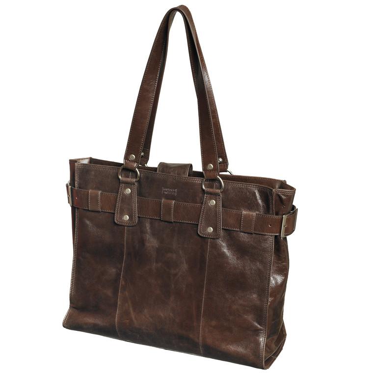 """Computertaske Pierre Lady læder 16"""" brun 56x36x25cm"""