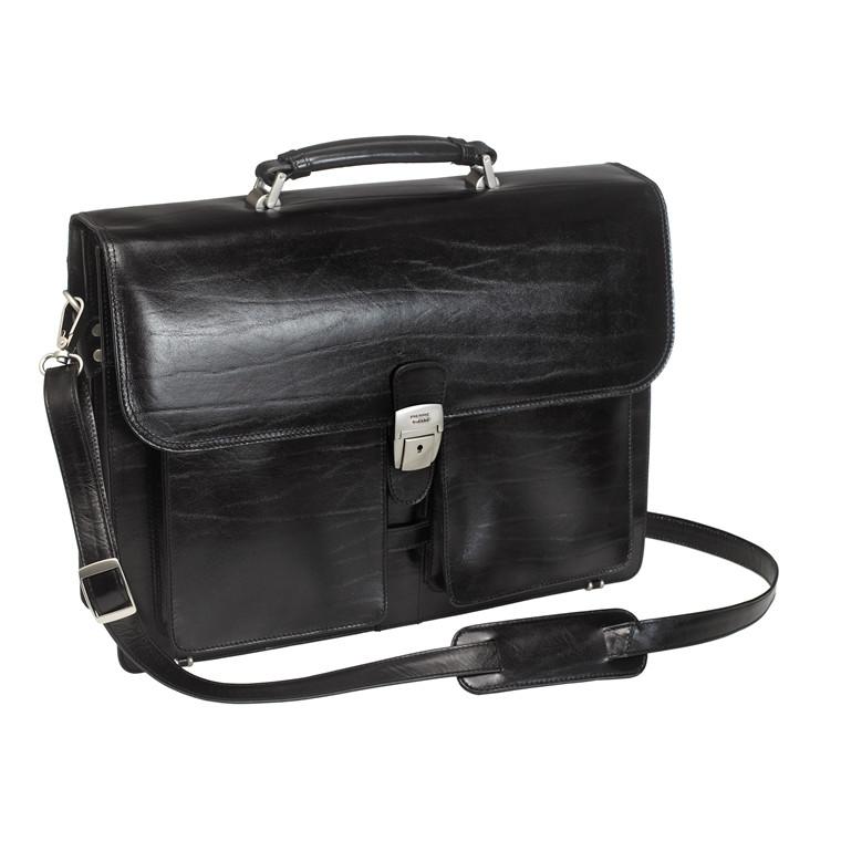 "Computertaske Pierre læder 16"" sort 43x33x11cm"