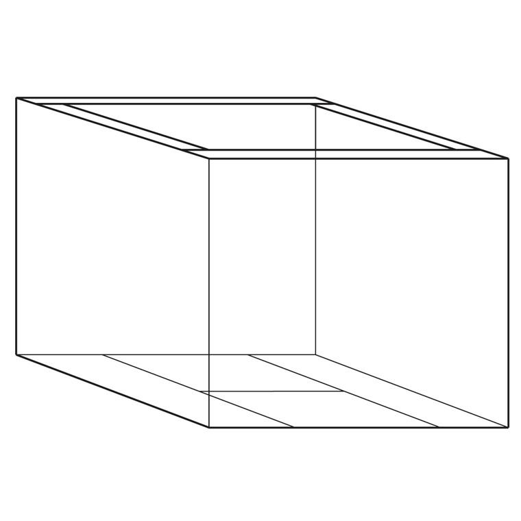 Containerunderdel 18 - 2 Bølger - 1180 x 780 x 700/100 mm