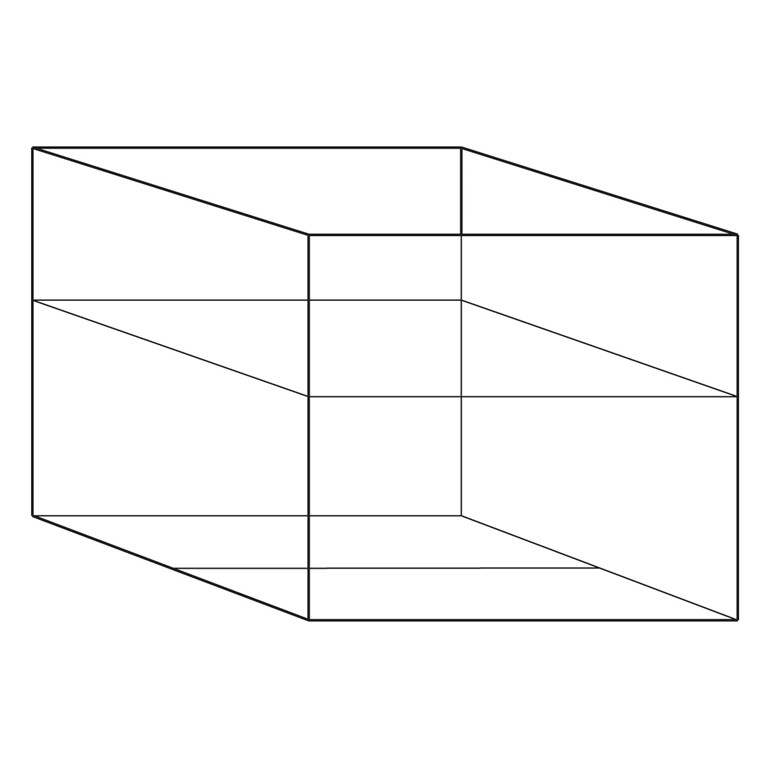 Containerunderdel 26 - 2 Bølger - 780 x 580 x 410/700 mm