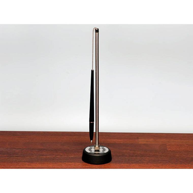 Esselte Desk-Set - Kuglepen på sort fod og spiralfjeder